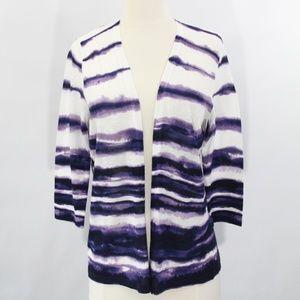 Chico's Striped Tie Dye Cardigan Sweater NEW Top